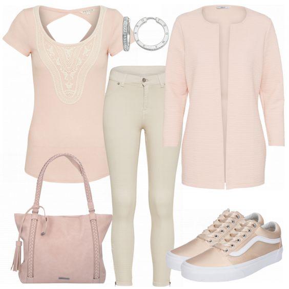 Puder Damen Outfit - Komplettes Freizeit Outfit günstig kaufen | FrauenOutfits.de