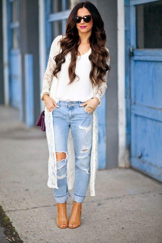проблемных бойфренд джинсы