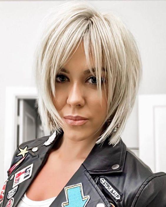 Cтрижка боб на короткие волосы для женщин за 40