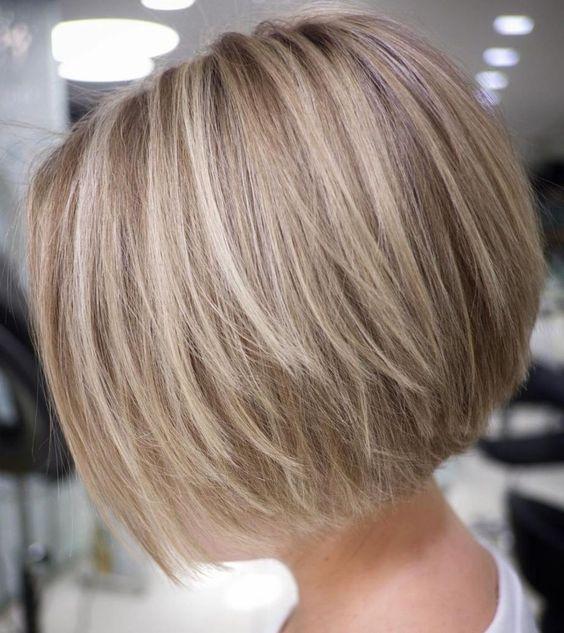 Straight Textured Creamy Blonde Bob