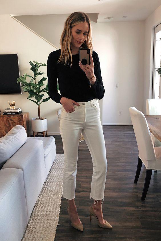 Fashion Jackson   16 Ways to Wear White Cropped Jeans this Spring