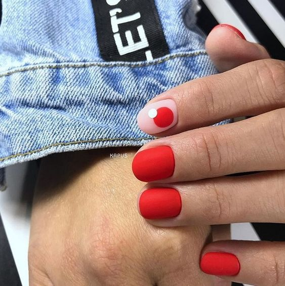 Модный красный маникюр 2019-2020 – новинки красного маникюра, фото идеи красного дизайна ногтей