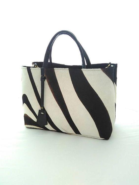 Zebra Hand bag, tote bag, leather tote bag, Animal print bag, women's bag, designer handbag, party b
