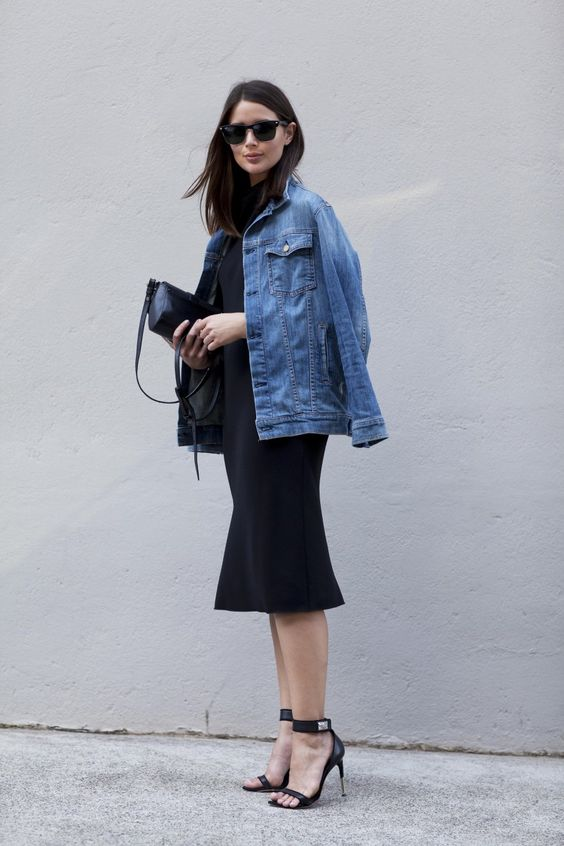 harper and harley_sara donaldson_denim jacket_black dress_fashion blogger_2