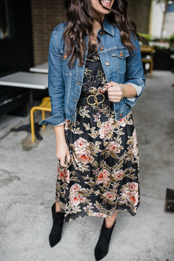 Why Your Closet Needs A Fall Midi Dress | Black Floral Midi Dress for Fall