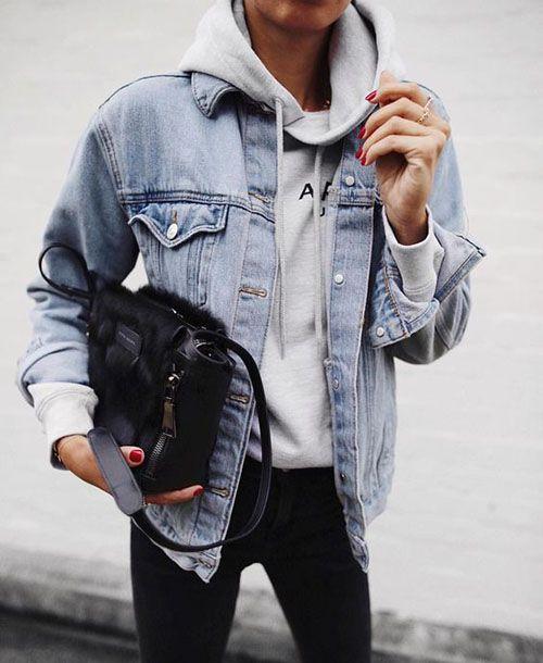 Как носить толстовку: 45 образов с самой уютной вещью в гардеробе | Trendy-U