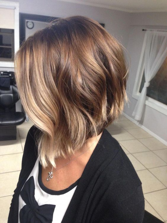 My new do! Welcoming fall with some warm colors #stackedBob