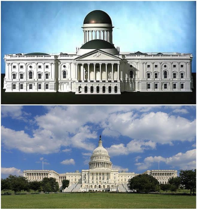 Если бы строители следовали первоначальному плану архитектора Уильяма Торнтона, то мы бы не увидели современное величие Капитолия (Вашингтон, США).   Фото: ru.wikipedia.org/ putidorogi-nn.ru.