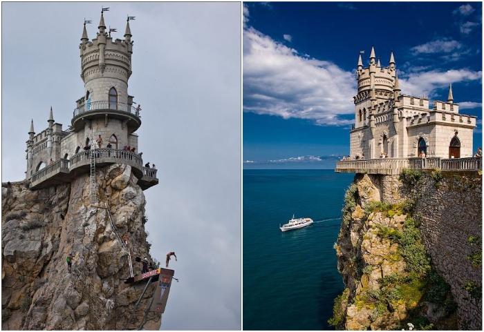 Самый узнаваемый символ Крыма приобрел свои очертания в 1912 г («Ласточкино гнездо», Гаспра).   Фото: pinterest.com/ ladycrystal.net.