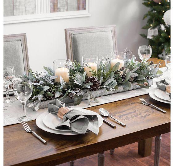 Eucalyptus and Pine Cones Candle Centerpiece | Kirklands
