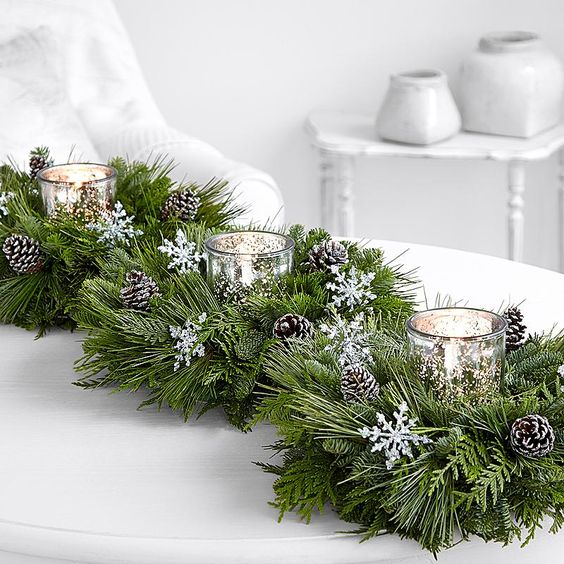 Trio of Silver White Candle Rings