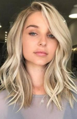 49 Trendy Haircut For Round Face Shape Thin Medium Lengths #hairstyles #For_Round_Faces_shape