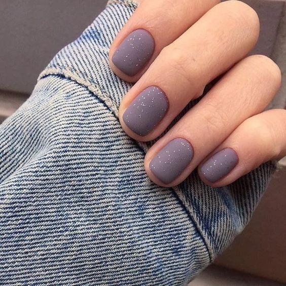 2019 Свадебный маникюр на короткие ногти модные тенденции