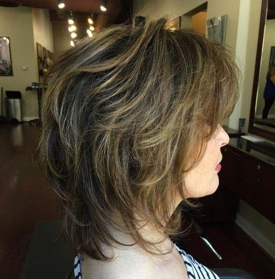 Two-Tone Disheveled Layered Hairstyle