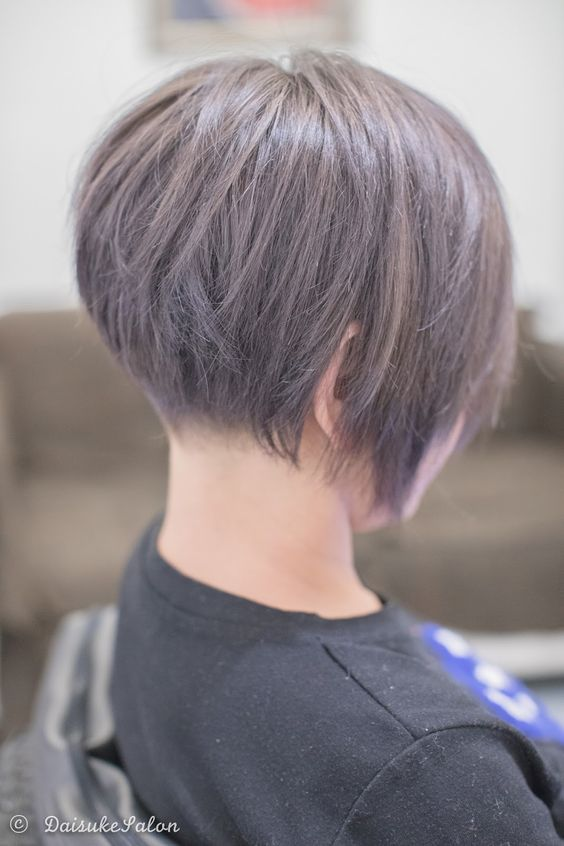 Concave Bob with Ash Brown    She had dark colour before so this time we did slight bleach and ...