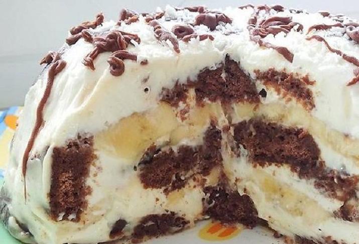 Торт всего из трёх ингредиентов. Но самое главное — выпекать не нужно!
