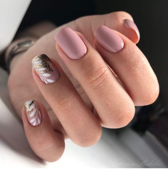 Design and mauve color - nails - ChicLadies.uk