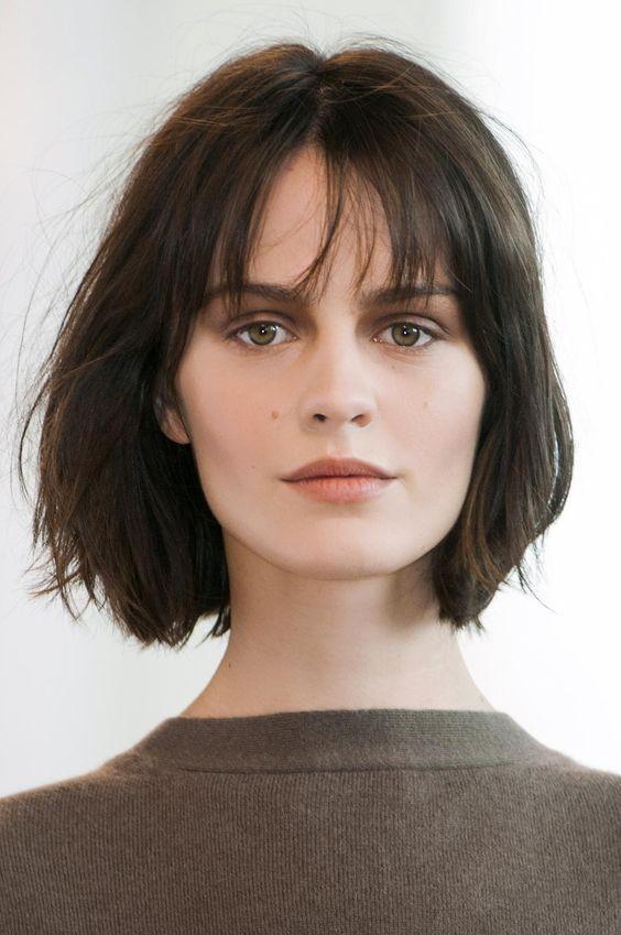Short Hairstyle Ideas Straight From the Runway - wispy fringe + choppy cut