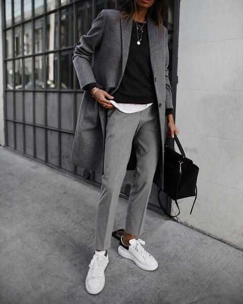 Серые брюки: 8 самых стильных и универсальных образов | Идеи стильных людей ✮ | Яндекс Дзен