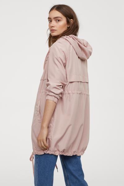 Парка с капюшоном - Розовая пудра - Женщины | H&M RU 4