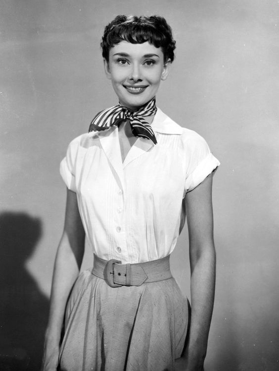 Audrey Hepburn dressed as Princess Ann for her film debut in Roman Holiday, 1953.