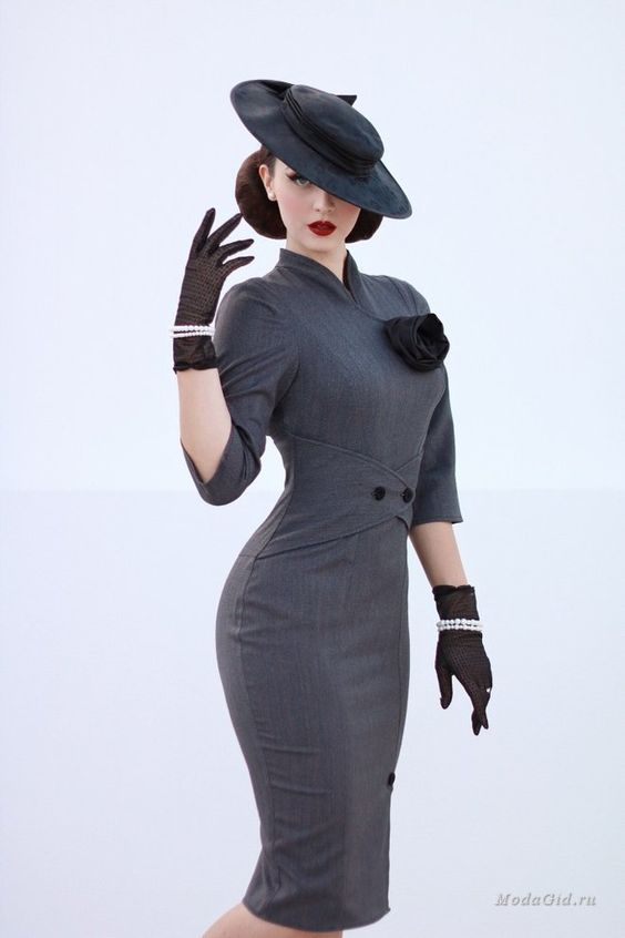 Уличная мода: Модница из прошлого Aida Dapo